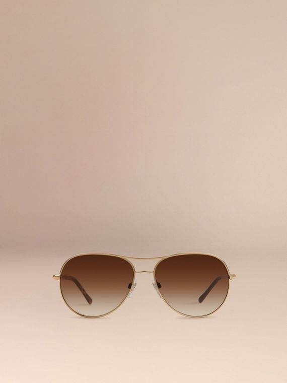 Or Lunettes de soleil Aviator – Collection Gabardine  - cell image 2