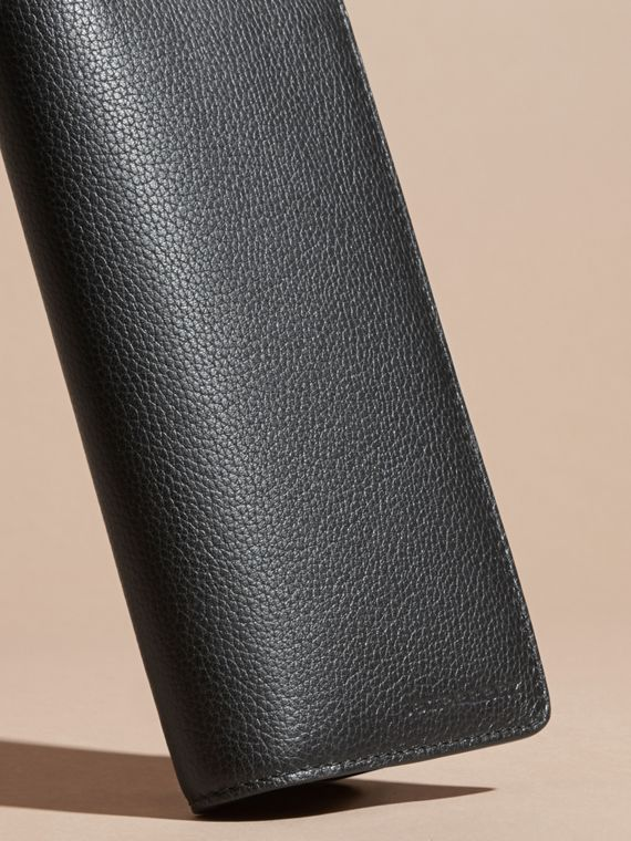 Black Grainy Leather Continental Wallet Black - cell image 2