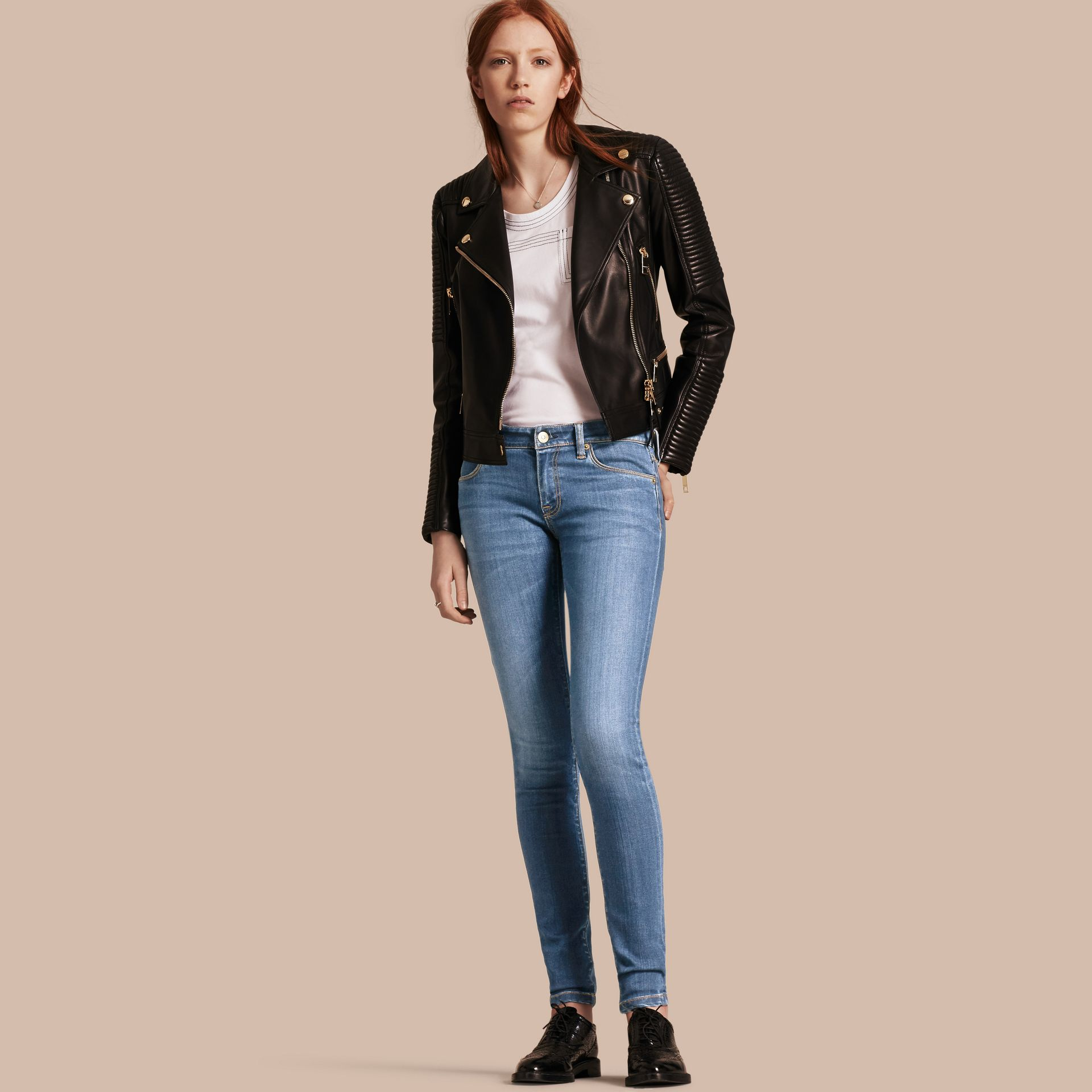 Skinny Low-Rise Vintage Wash Jeans - Women | Burberry - gallery image 1