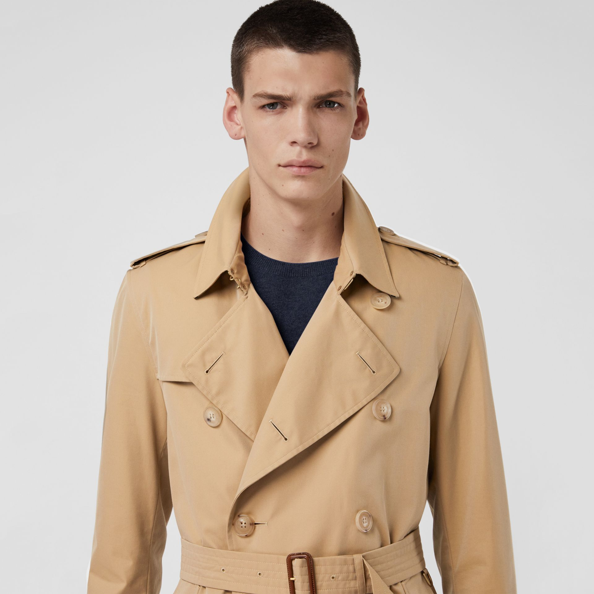 The Kensington Heritage Trench Coat in Honey - Men | Burberry Singapore - gallery image 5