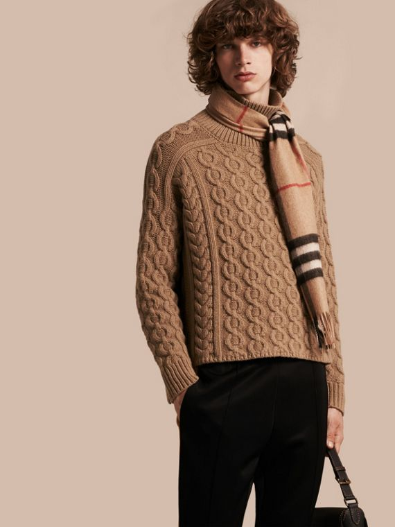 Wool Cashmere Cable Knit Jumper