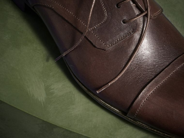 Ebony Washed Leather Derby Shoes - cell image 1