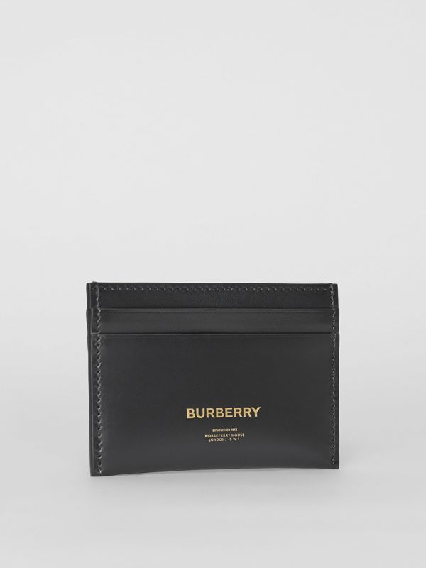 Horseferry Print Leather Card Case in Black | Burberry - cell image 3