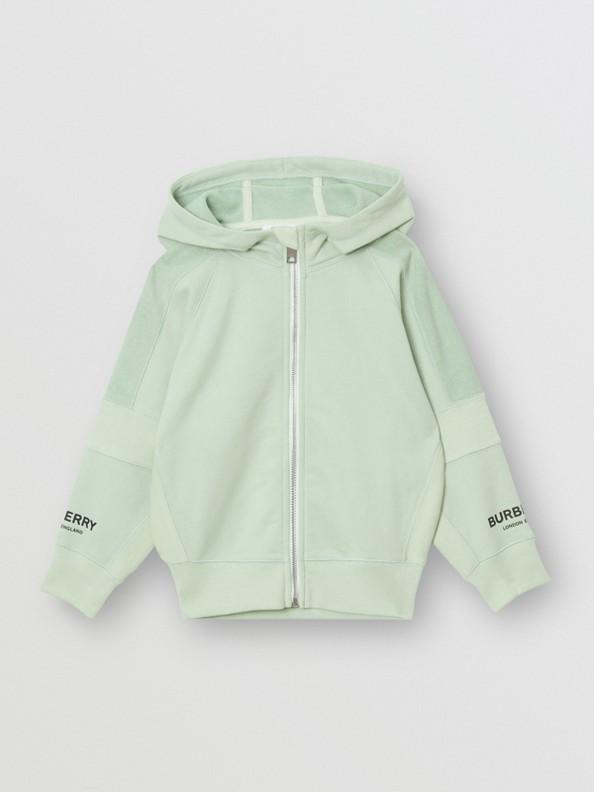 Veste à capuche en coton avec logo imprimé (Menthe Pâle)
