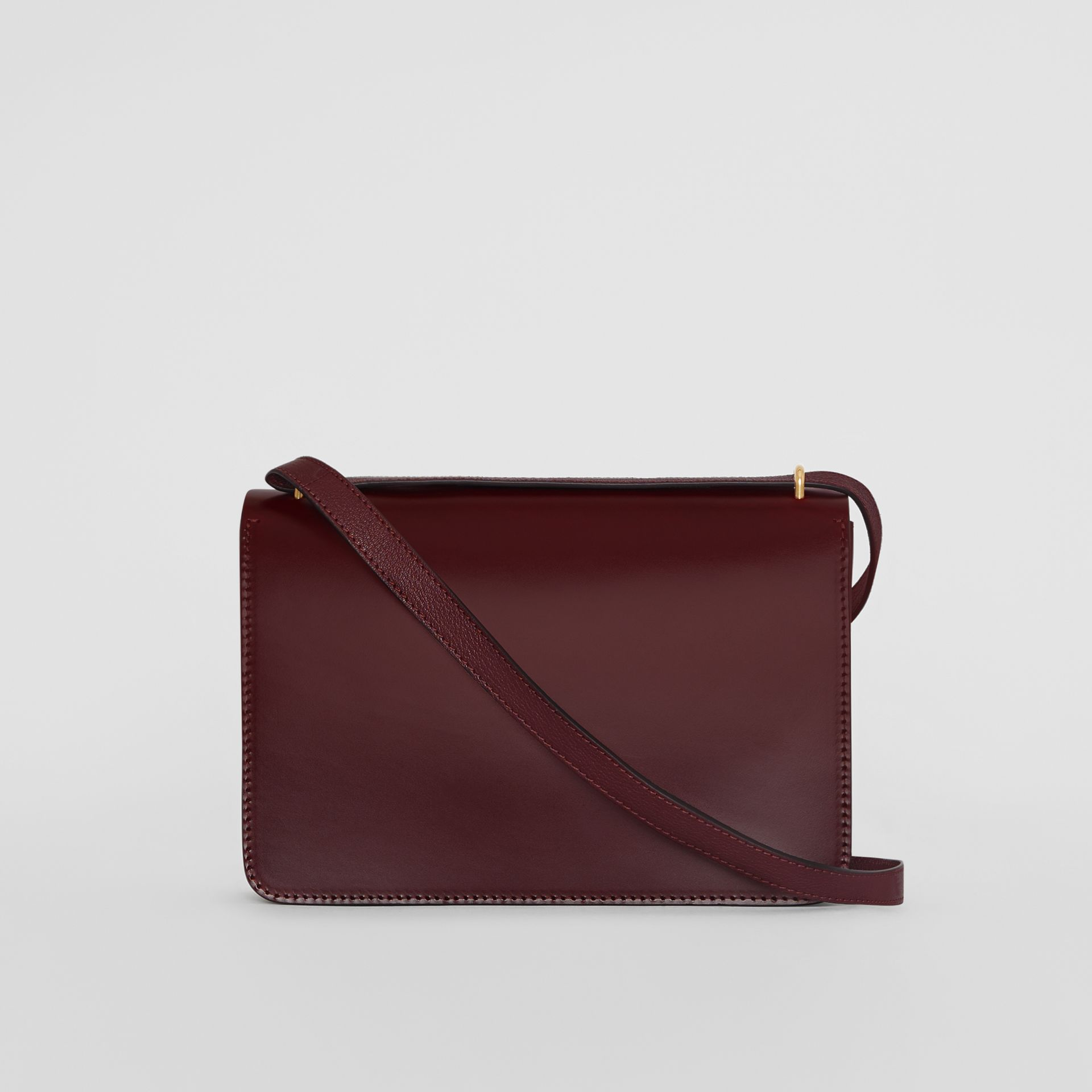 Borsa The D-ring media in pelle (Rosso Violetto Intenso) - Donna | Burberry - immagine della galleria 7