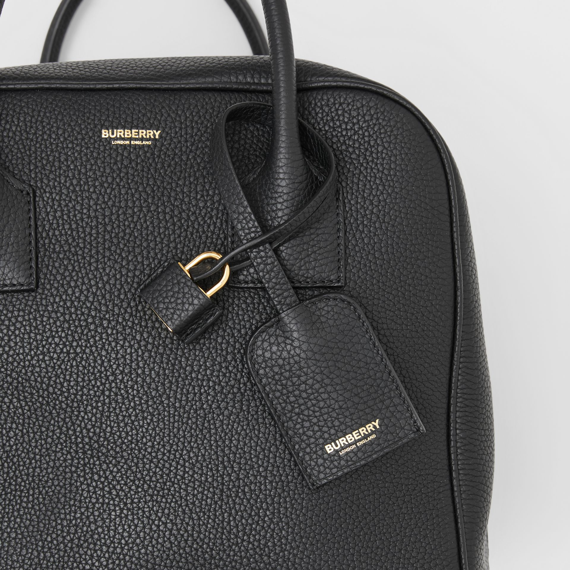 Medium Leather Cube Bag in Black - Women | Burberry Australia - gallery image 8