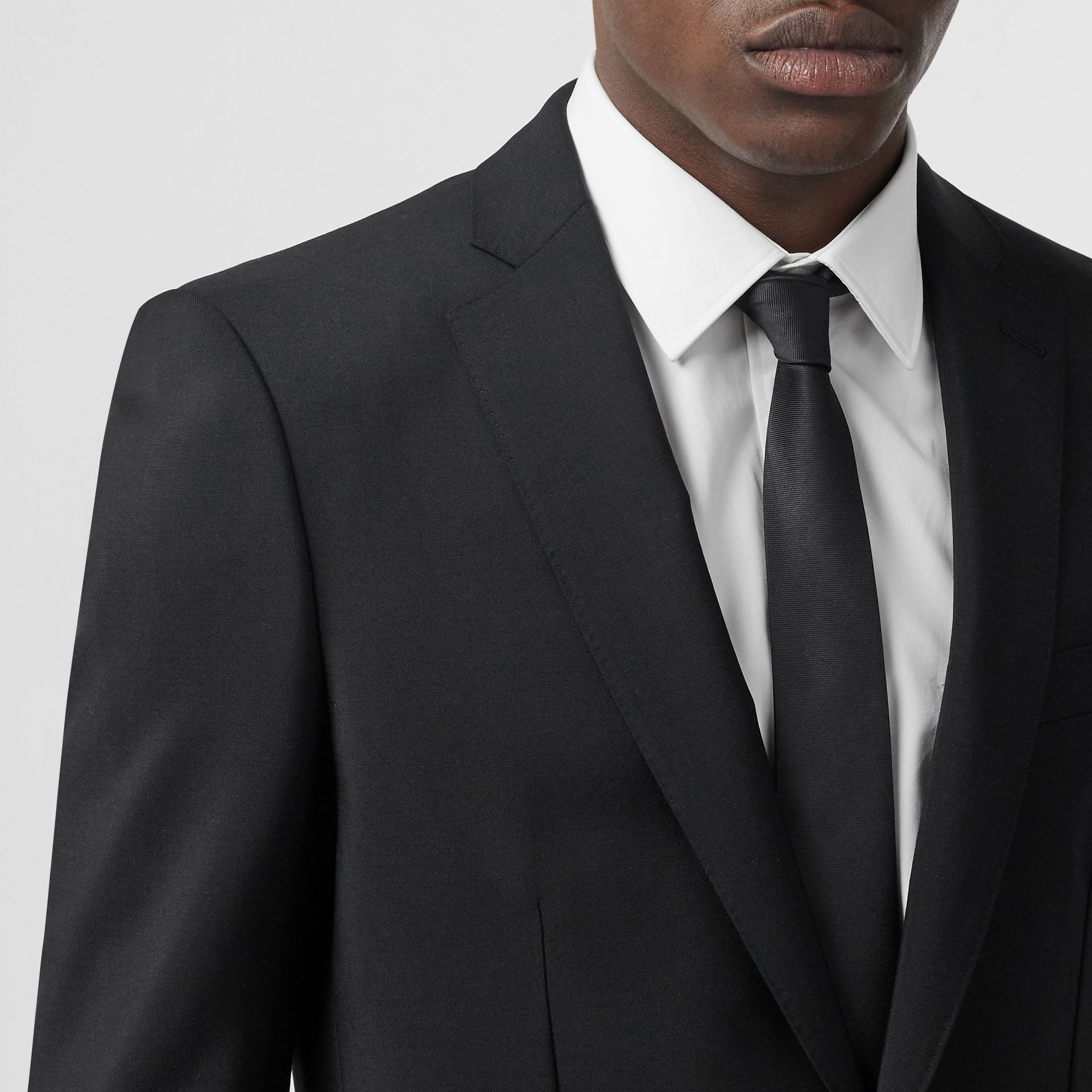 English Fit Wool Mohair Tailored Jacket in Black - Men | Burberry - gallery image 1