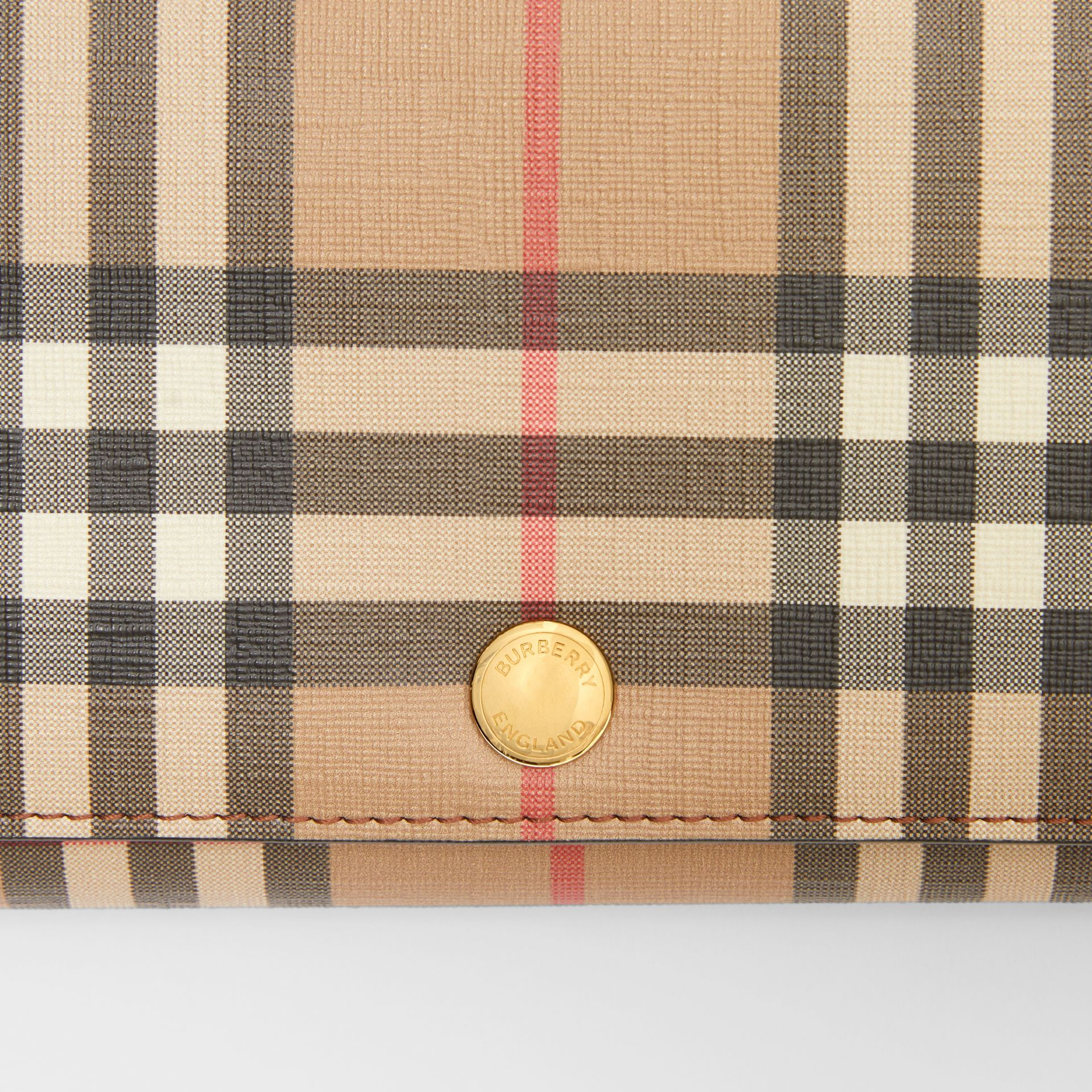 Vintage Check Wallet with Detachable Strap in Malt Brown - Women | Burberry - gallery image 1