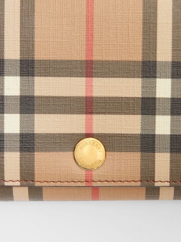 Portefeuille Vintage check avec sangle amovible (Brun Malt) - Femme | Burberry Canada - cell image 1