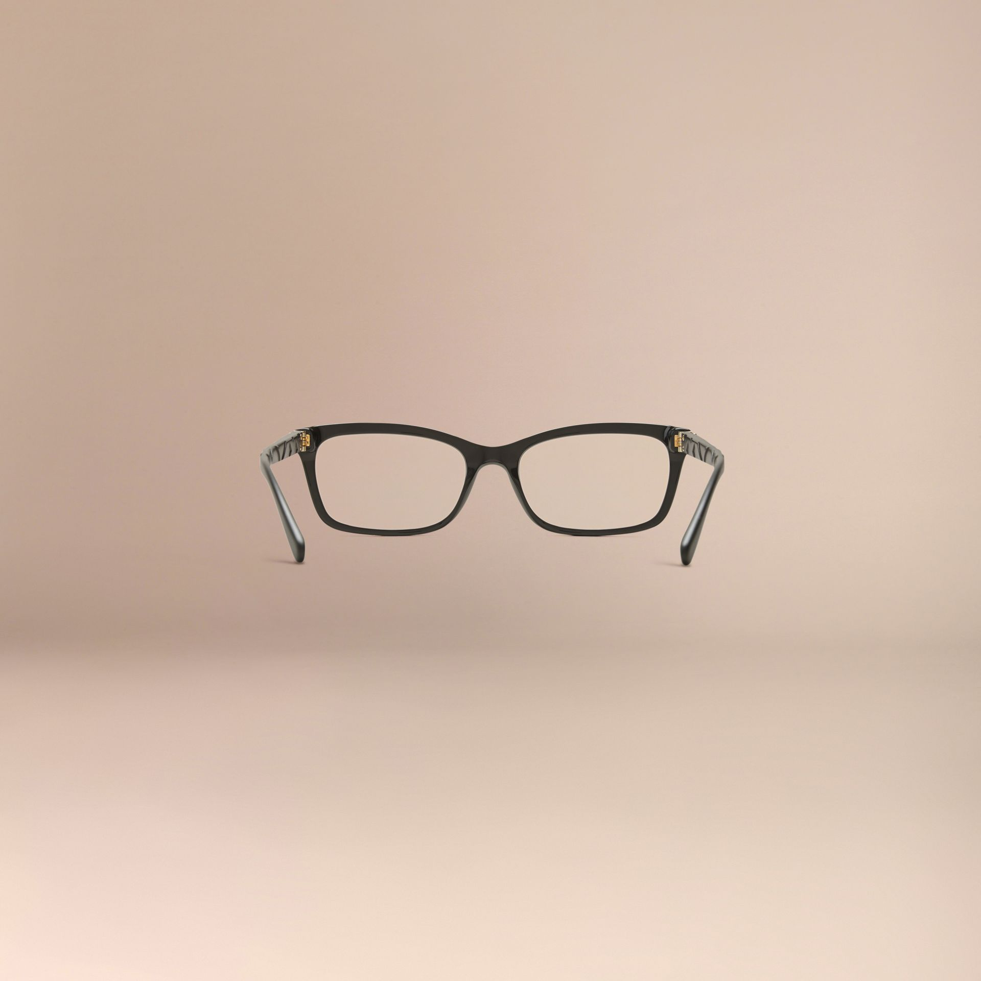 Check Detail Rectangular Optical Frames Black - gallery image 4