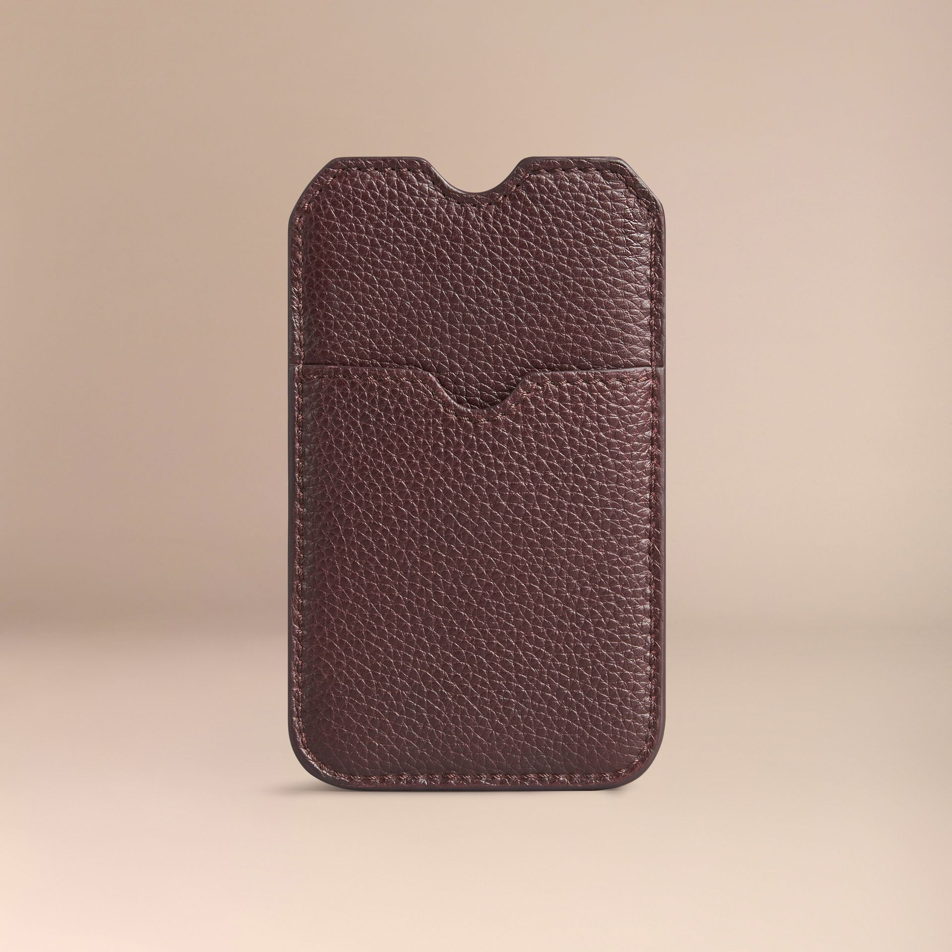 Grainy Leather iPhone 5/5S Case in Ebony Red | Burberry Canada - gallery image 2