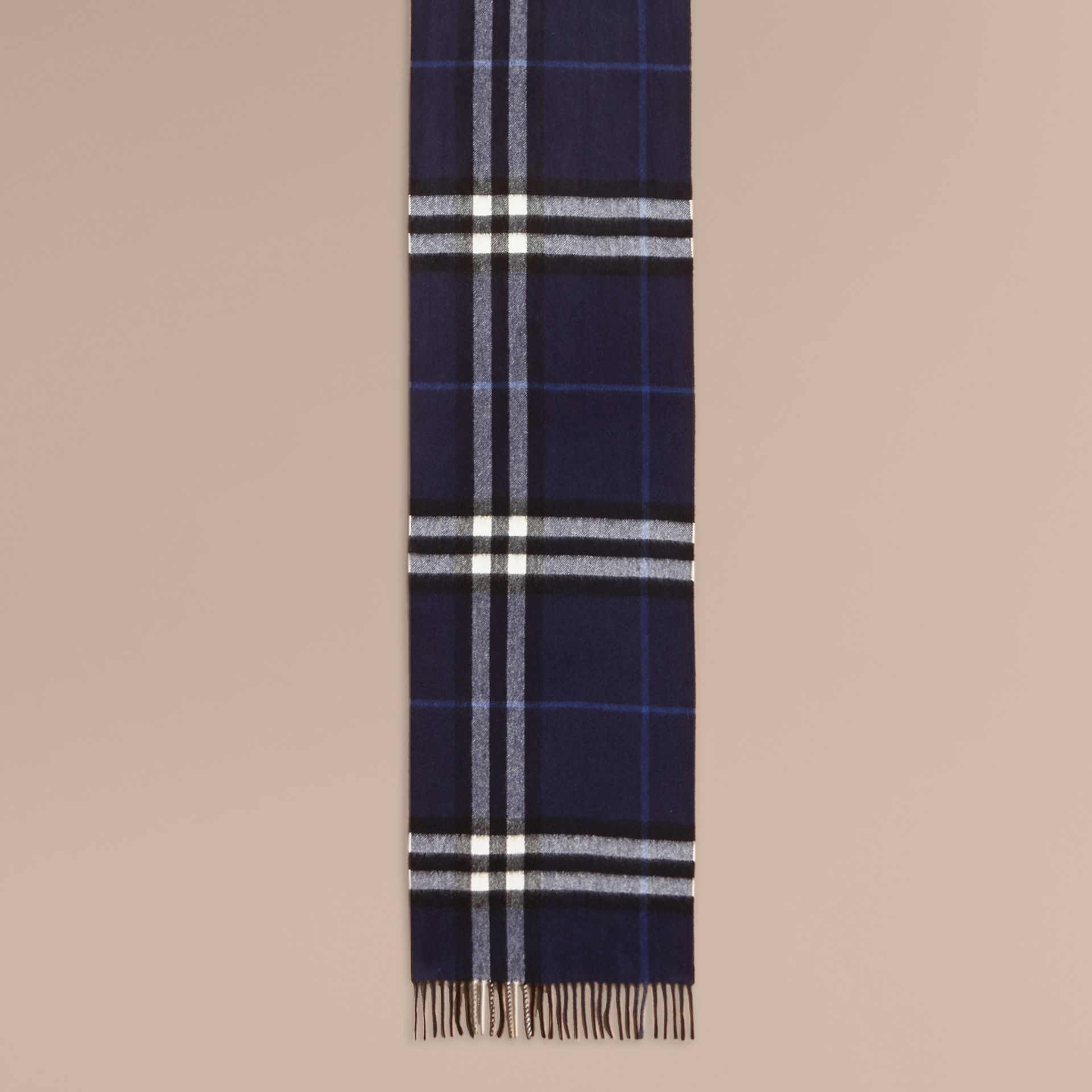 Oversize Peony Rose Embroidered Check Cashmere Scarf - gallery image 2