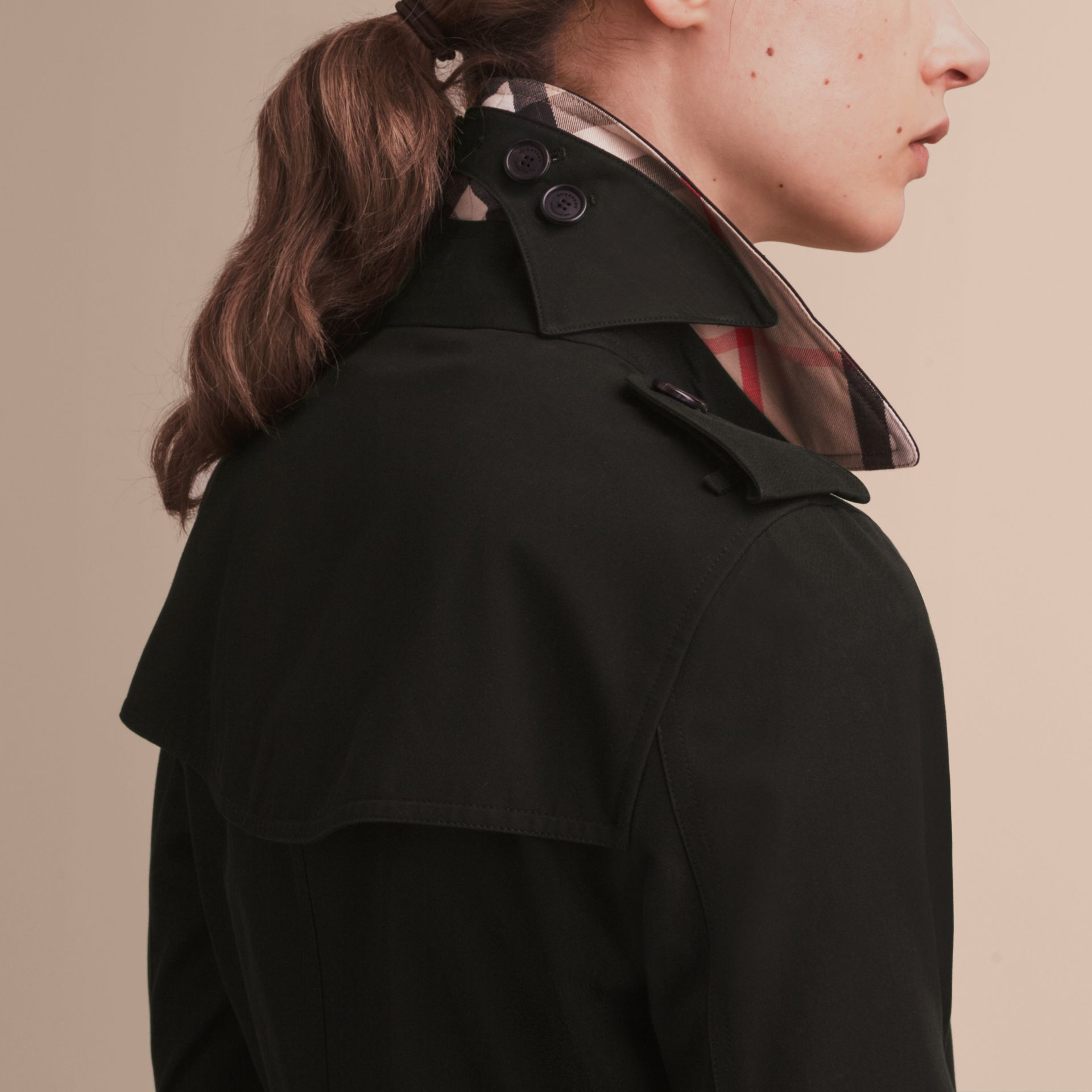 Black The Kensington – Mid-Length Heritage Trench Coat Black - gallery image 6