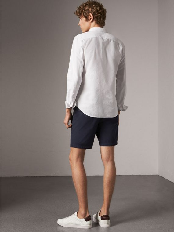 Cotton Oxford Shirt in White - Men | Burberry United States - cell image 2