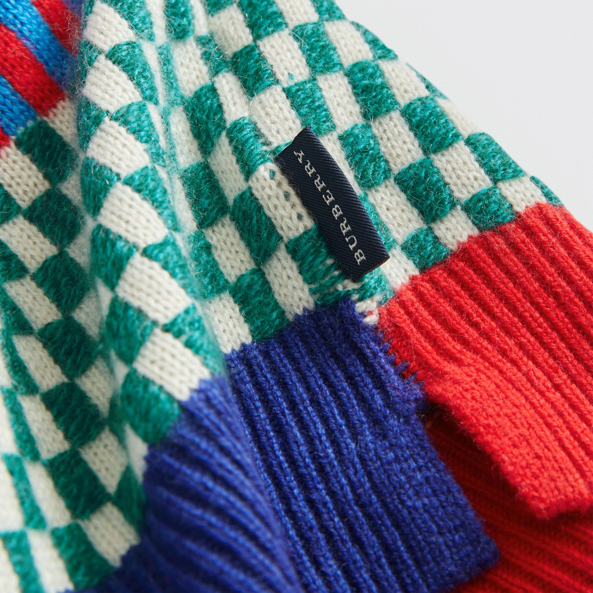 Graphic Cashmere Jacquard Sweater in Multicolour - Children | Burberry - gallery image 1