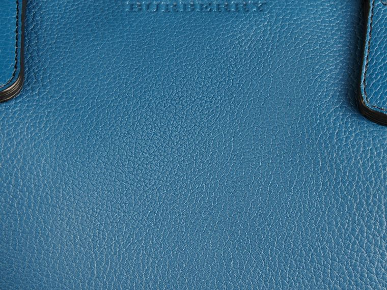 Mineral blue Grainy Leather Holdall Mineral Blue - cell image 4