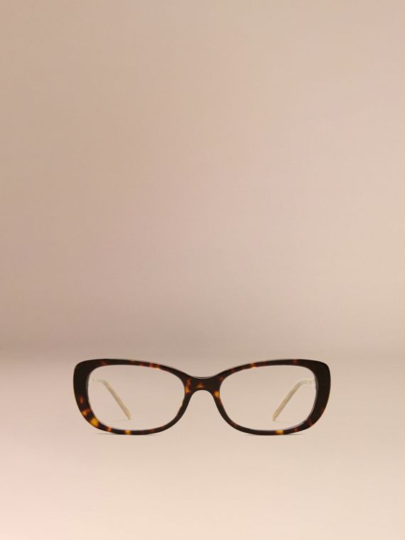 Gabardine Collection Oval Optical Frames in Tortoise Shell - cell image 2