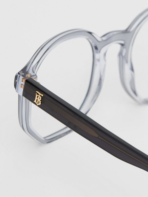 Geometric Optical Frames in Grey - Women | Burberry - cell image 1