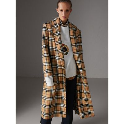 Excellent Cheap Sale Low Shipping Burberry Reissued vintage check dressing gown coat QUXjU9L