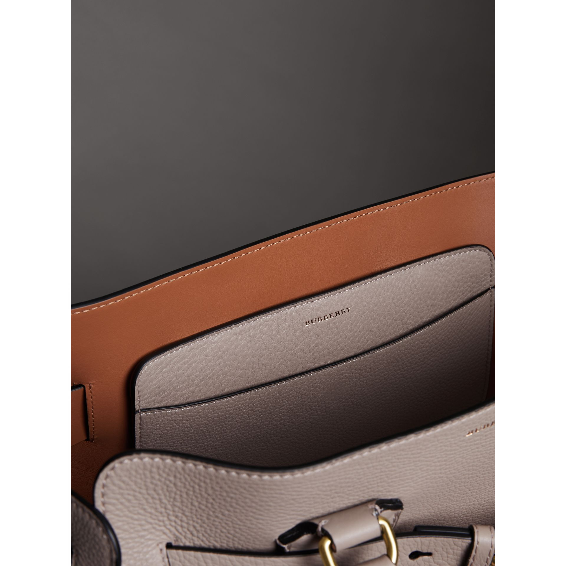 The Medium Leather Belt Bag in Mineral Grey - Women | Burberry United States - gallery image 6