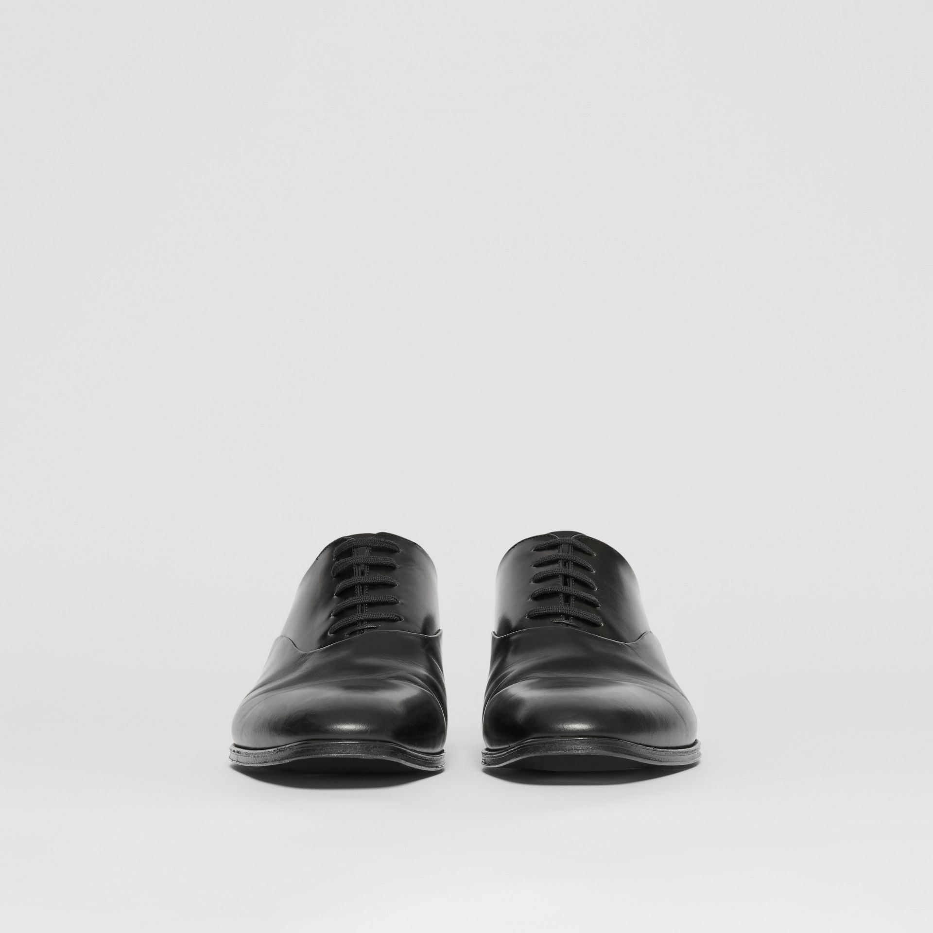 Leather Oxford Shoes in Black - Men | Burberry United Kingdom - gallery image 2