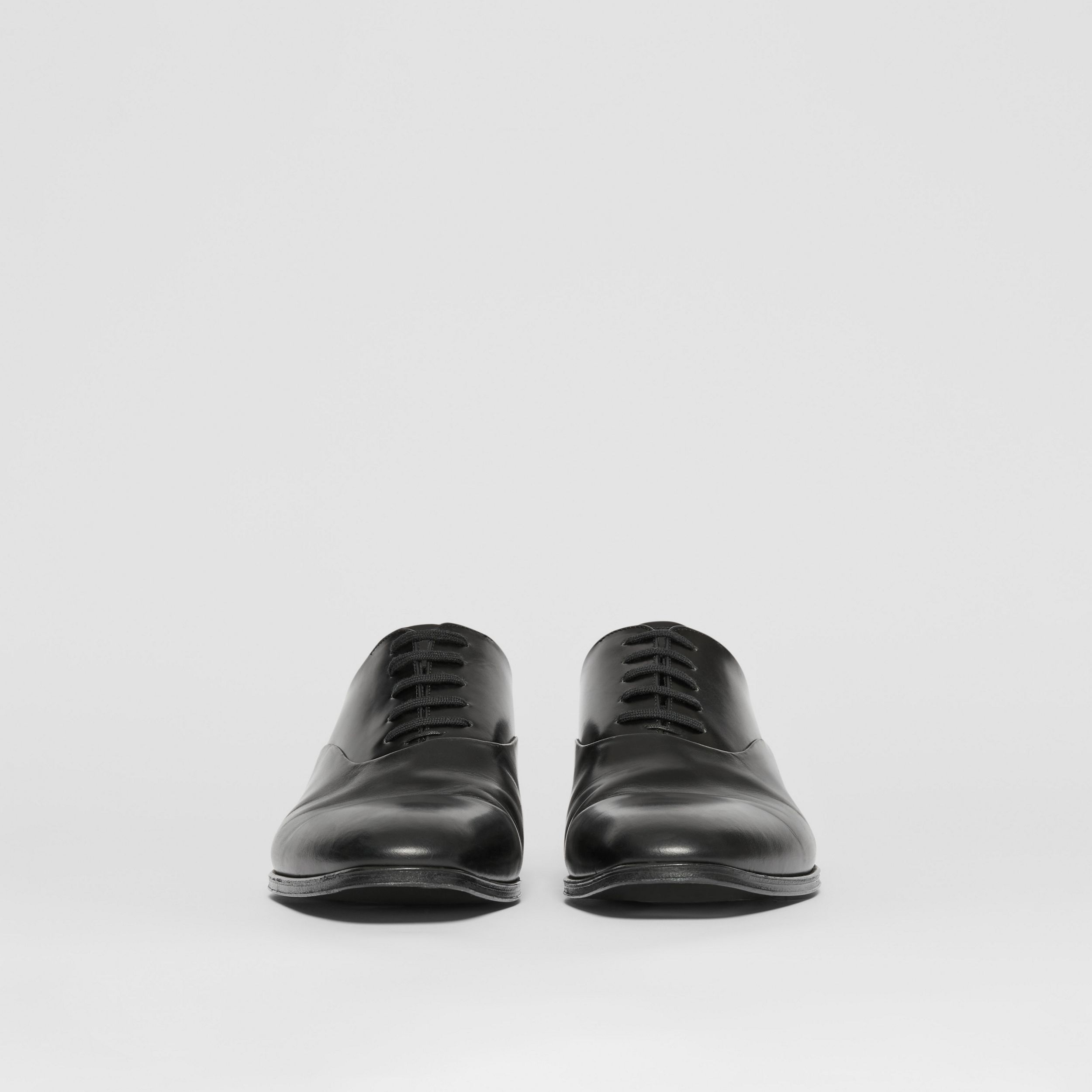 Leather Oxford Shoes in Black - Men | Burberry - 4