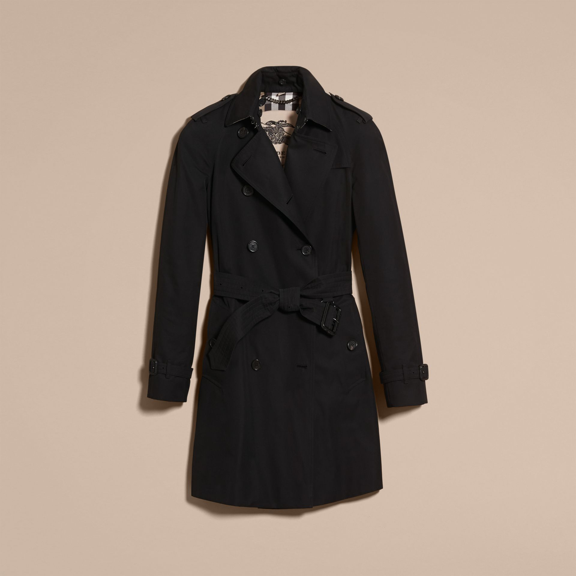 Black The Westminster – Mid-Length Heritage Trench Coat Black - gallery image 4
