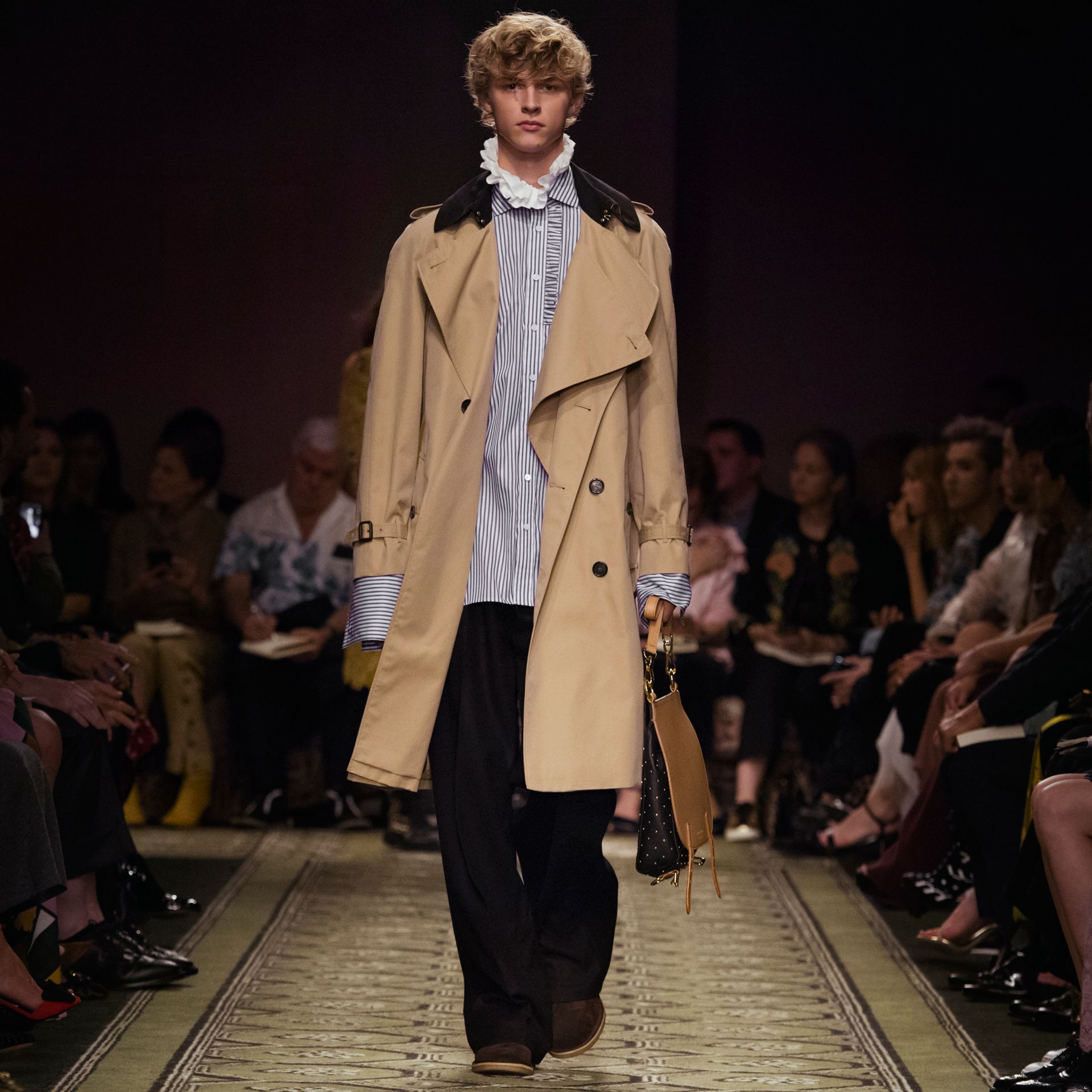 Honey Deconstructed Cotton Gabardine Heritage Trench Coat - gallery image 8