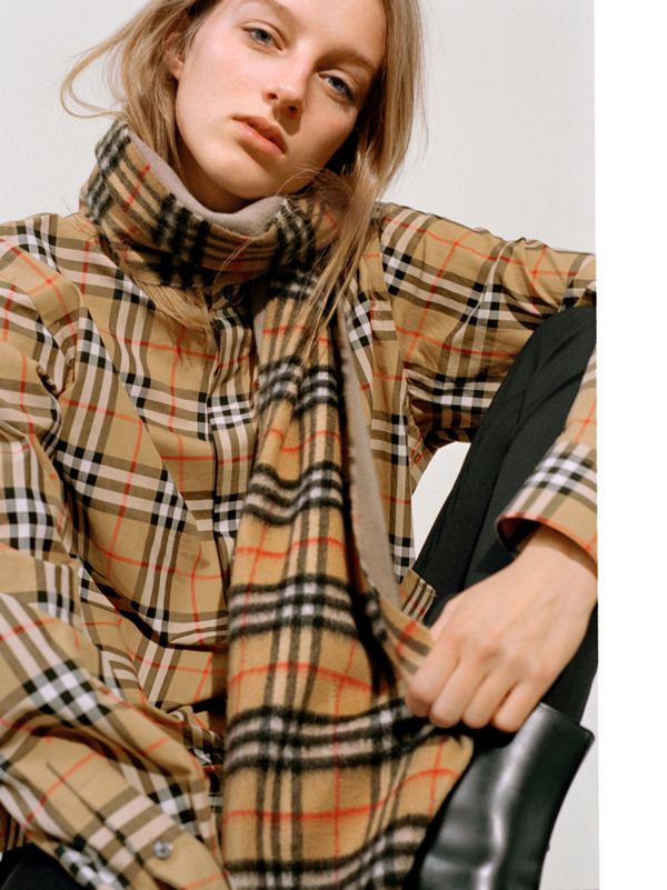 The long Vintage check scarf