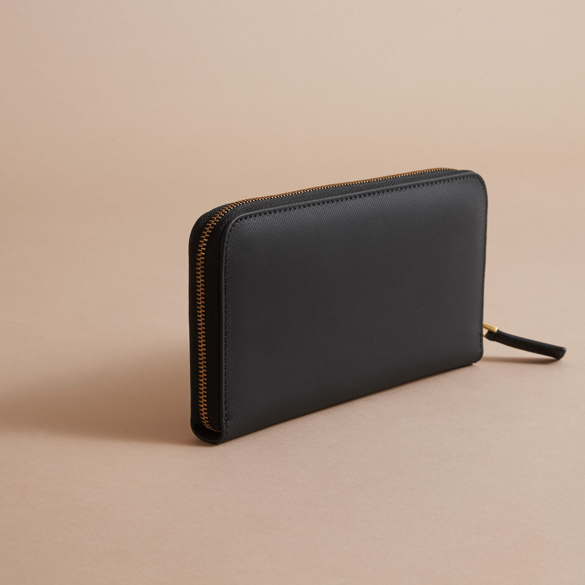 Trench Leather Ziparound Wallet - gallery image 4