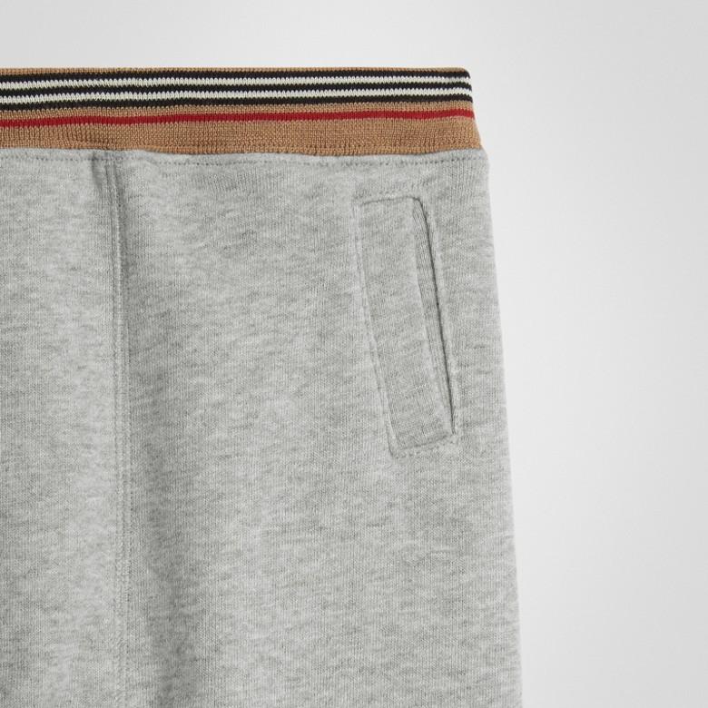 Burberry - Pantalon de survêtement en jersey de coton à rayures iconiques - 5