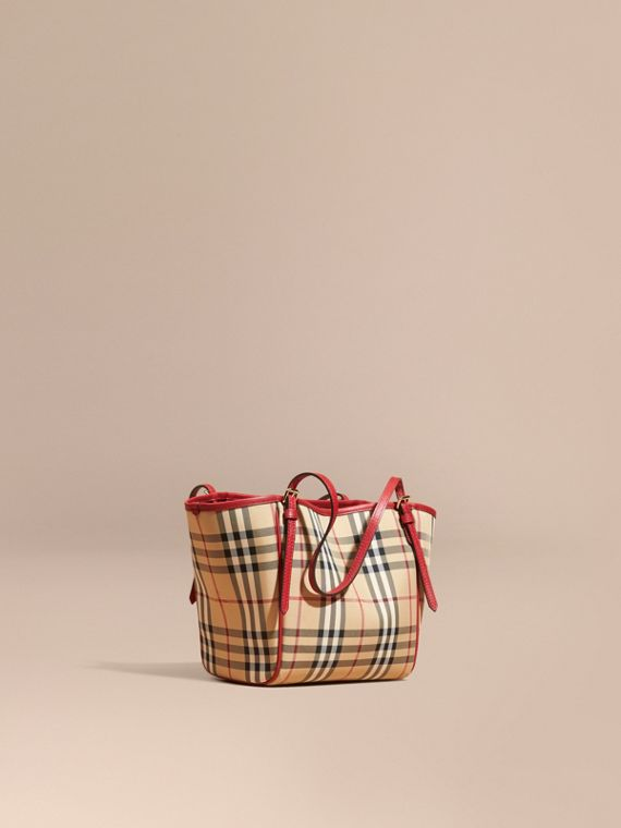 Bolso Canter Mini de checks Horseferry Miel/rojo Desfile
