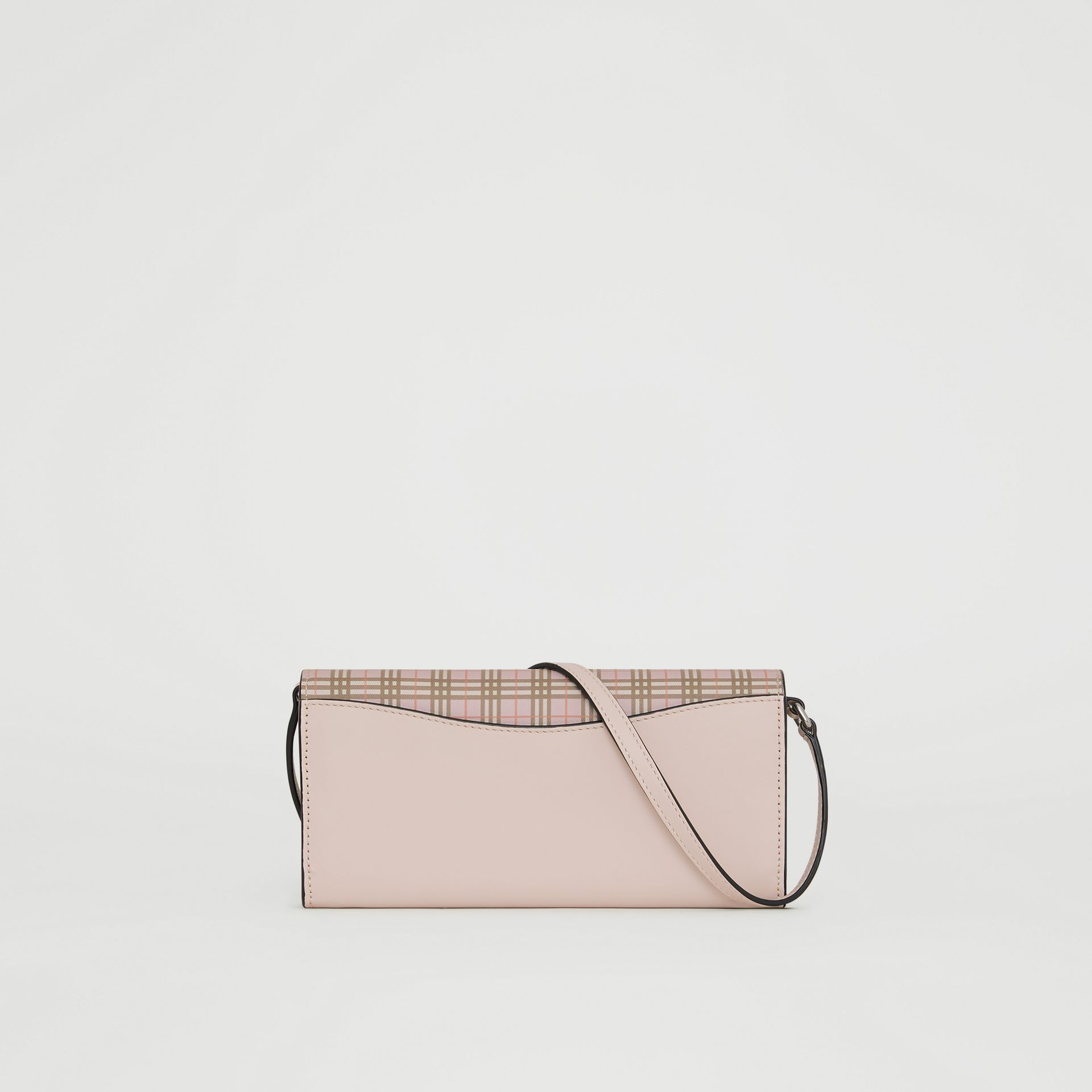 Small Scale Check Wallet with Detachable Strap in Ice Pink - Women | Burberry United States - gallery image 7
