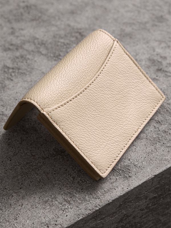 Grainy Leather Card Case in Limestone | Burberry - cell image 2