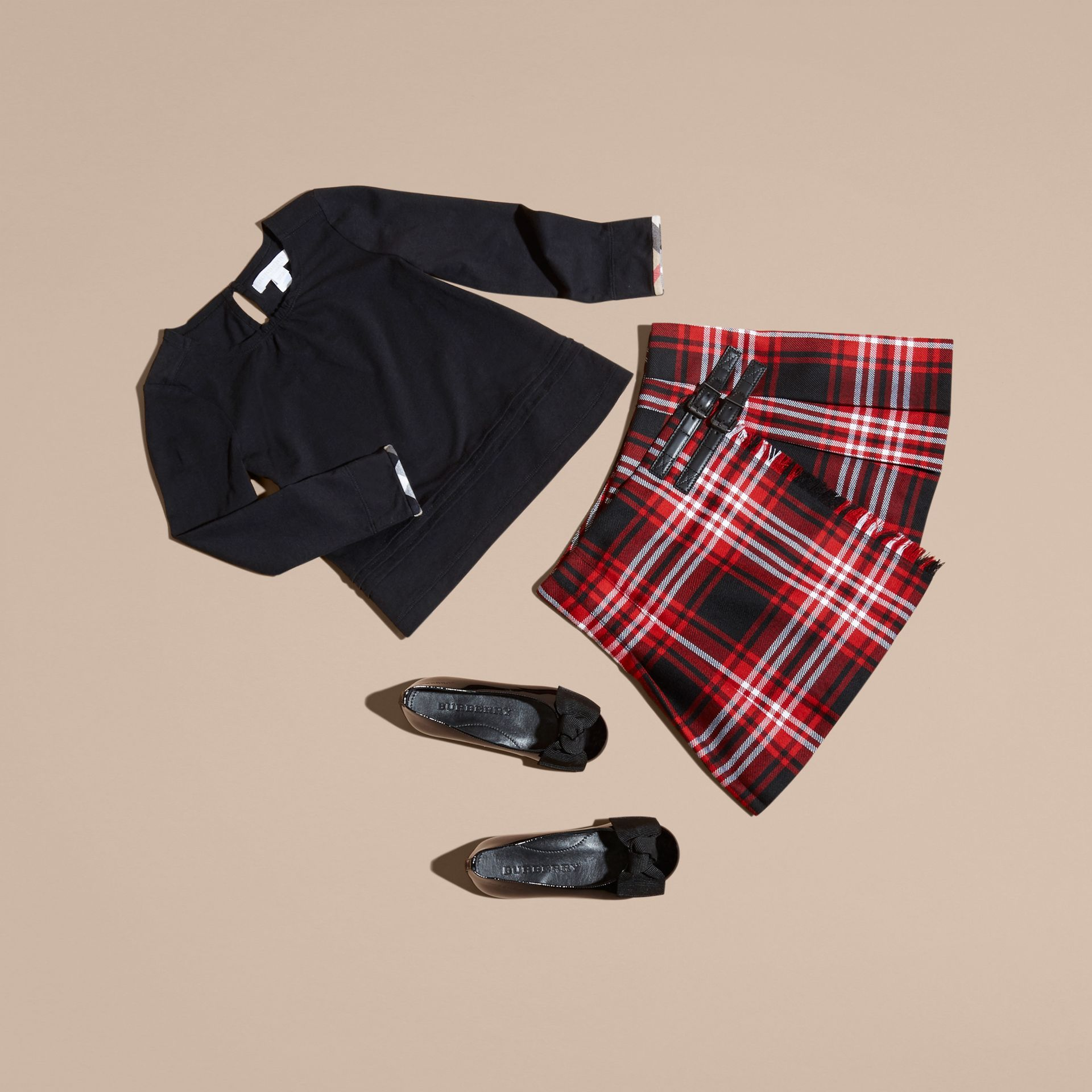 Parade red Check Wool Kilt - gallery image 5