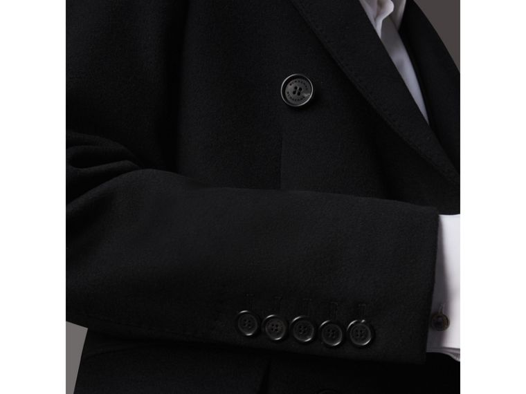 Double-breasted Wool Cashmere Tailored Coat in Black - Men | Burberry United Kingdom - cell image 1