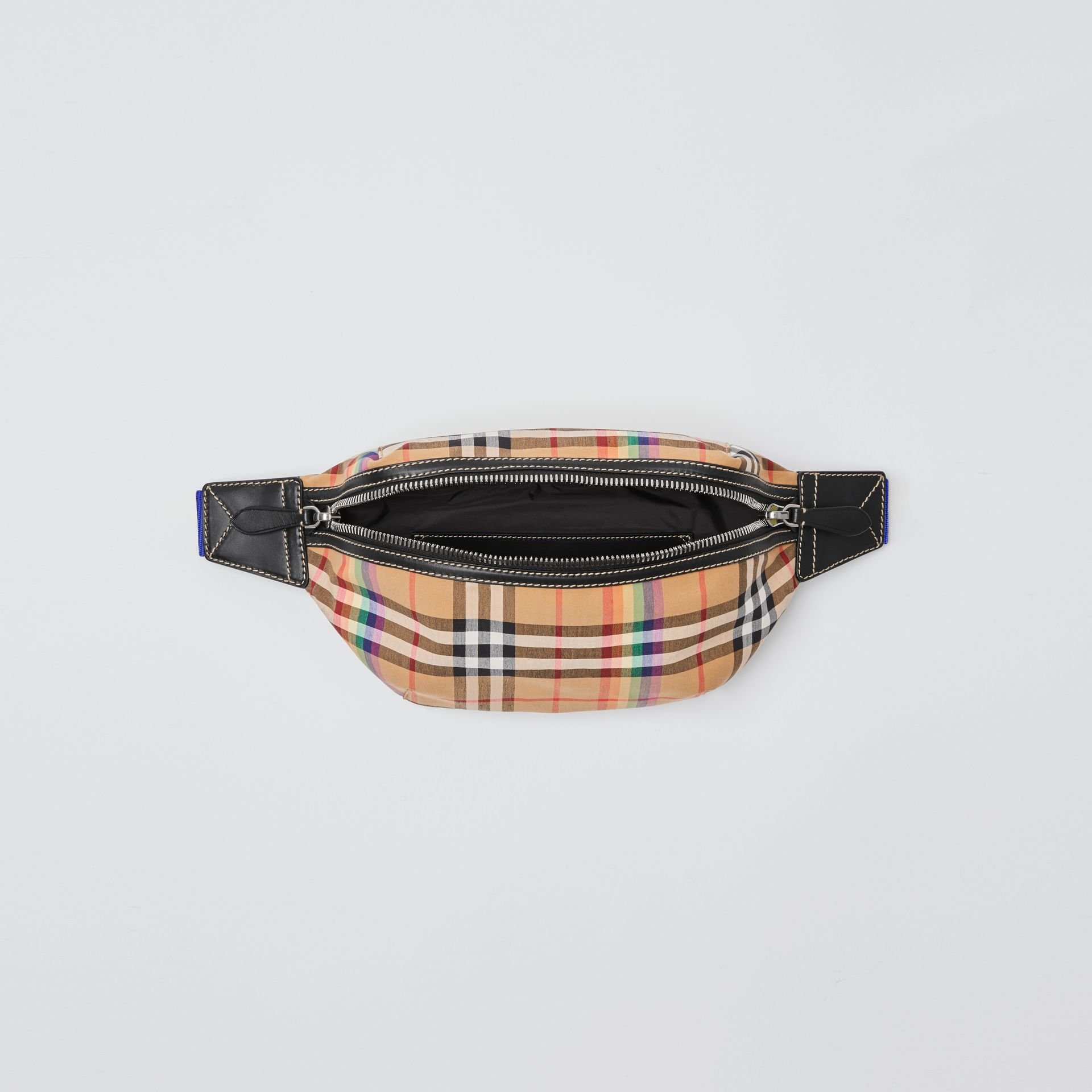 Medium Rainbow Vintage Check Bum Bag in Antique Yellow | Burberry - gallery image 4