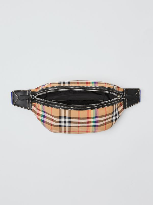 Medium Rainbow Vintage Check Bum Bag in Antique Yellow | Burberry United Kingdom - cell image 2