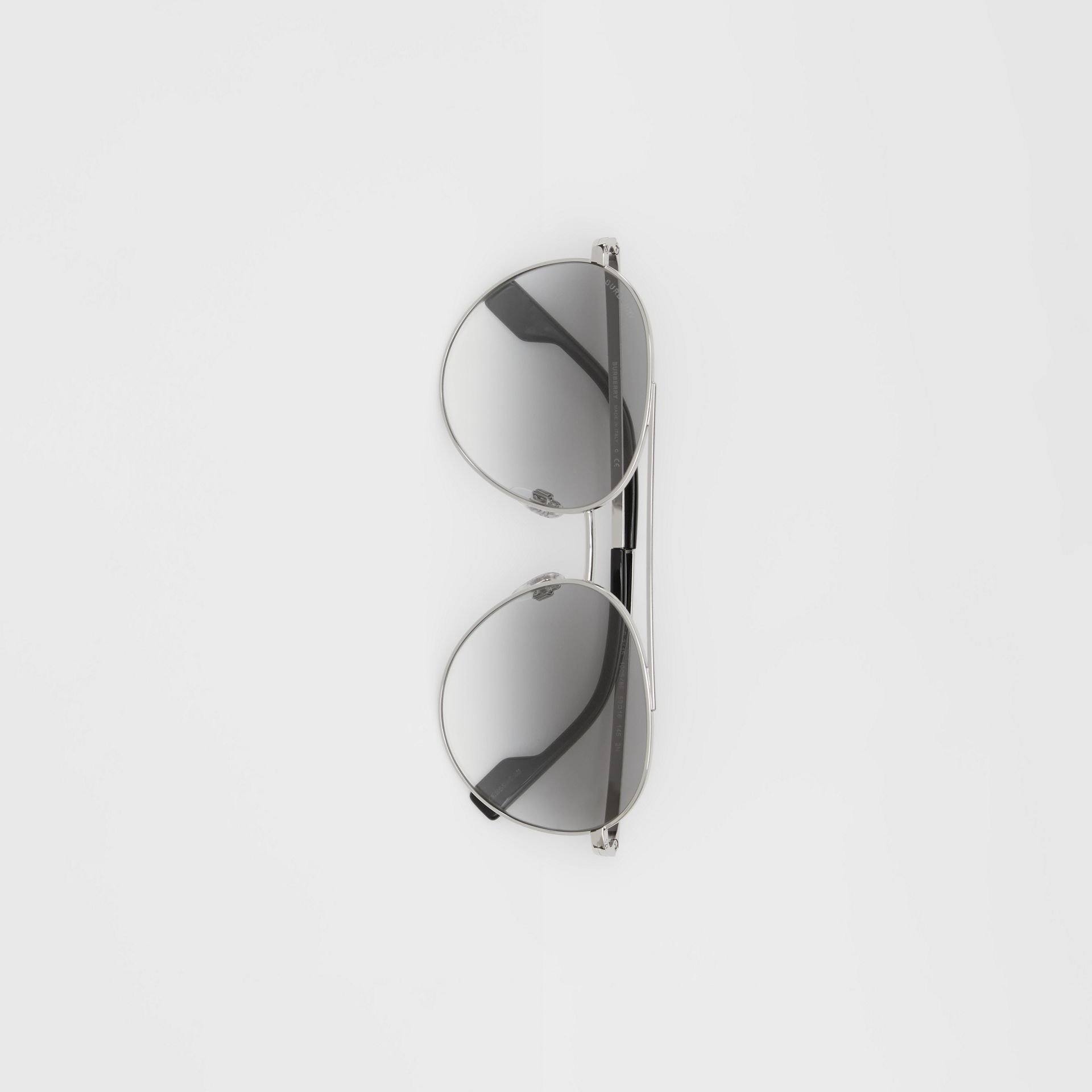 Pilot Sunglasses in Grey - Women | Burberry - gallery image 3