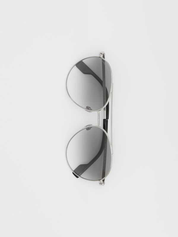 Pilot Sunglasses in Grey - Women | Burberry - cell image 3