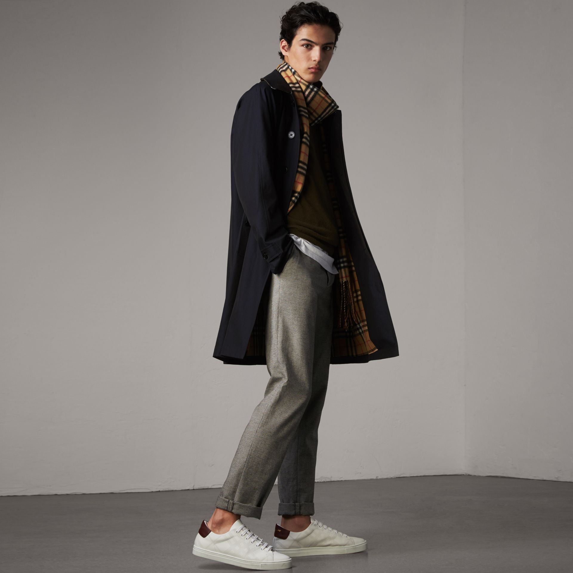 The Camden – Long Car Coat in Blue Carbon - Men | Burberry Australia - gallery image 0