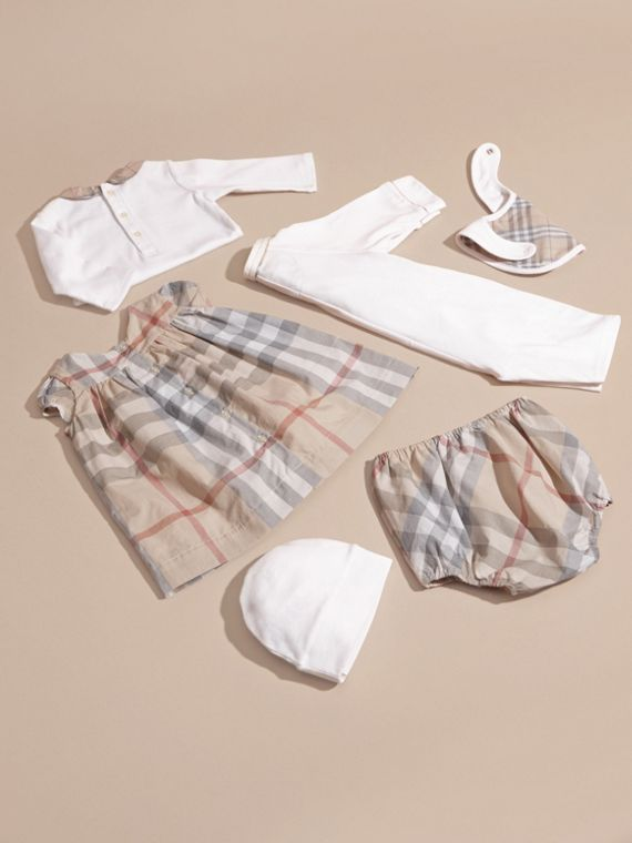 Cotton Six-piece Baby Gift Set in White | Burberry - cell image 3