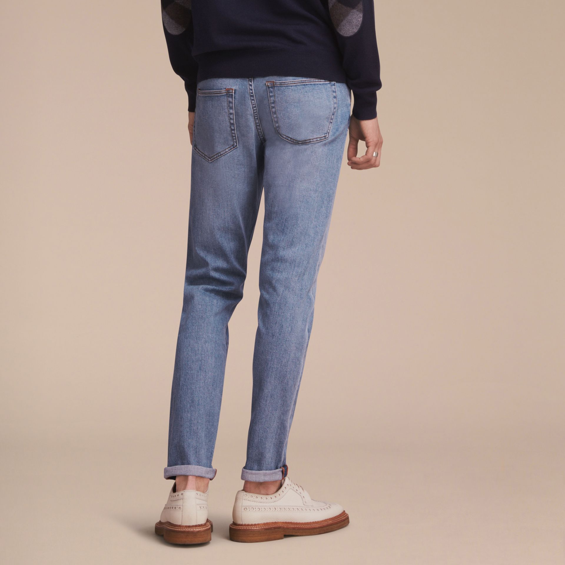 Relaxed Fit Stretch Jeans - Men | Burberry - gallery image 3
