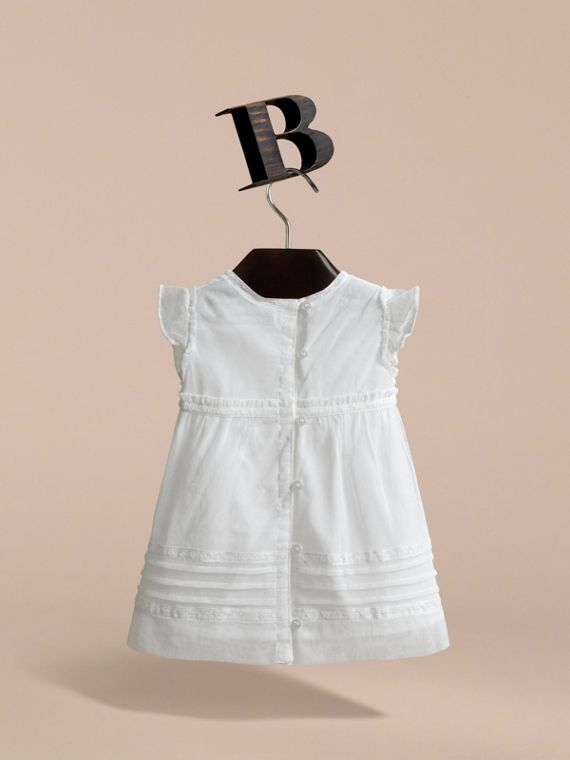 Lace and Cotton Tulle Dress with Bloomers - Children | Burberry - cell image 3