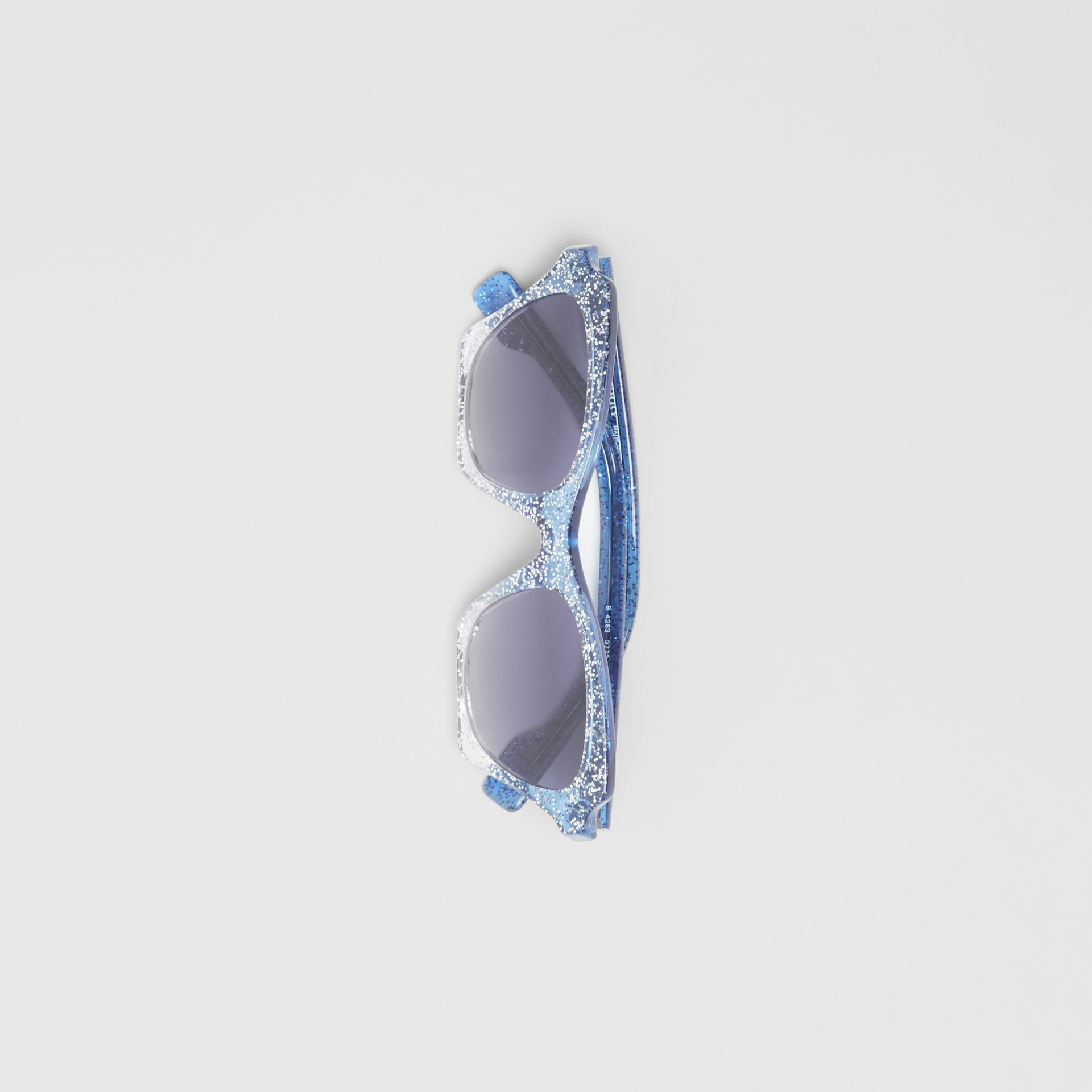 Butterfly Frame Sunglasses in Blue - Women | Burberry United Kingdom - gallery image 3