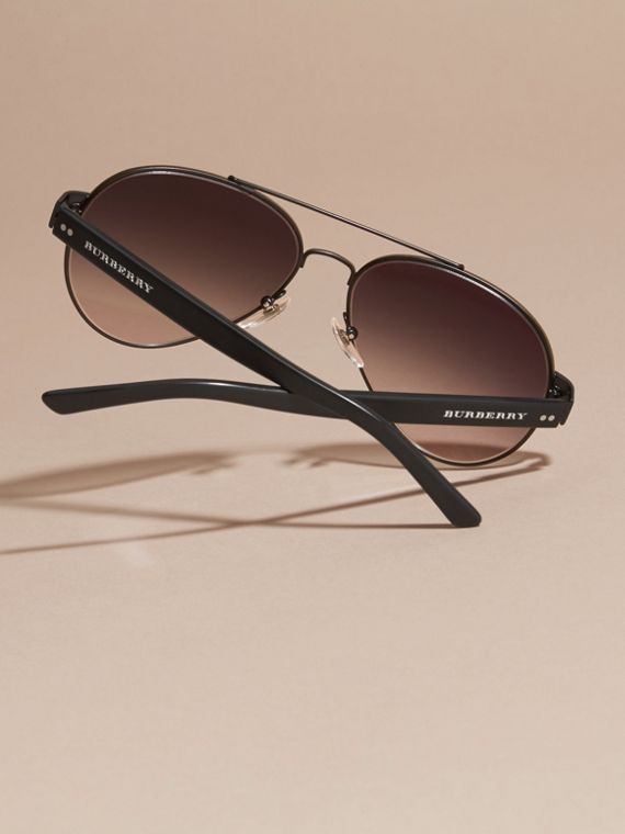Pilot Sunglasses in Black - Men | Burberry - cell image 3