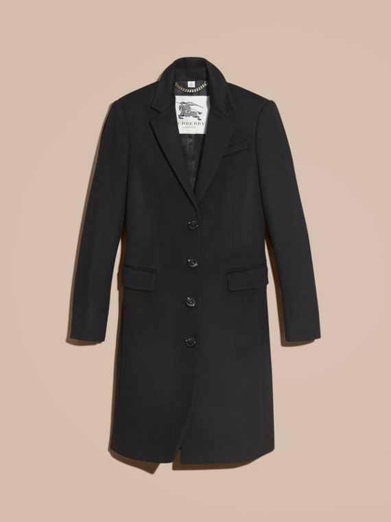 Black Tailored Wool Cashmere Coat Black - cell image 3