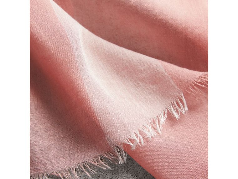 Check Modal Cashmere and Silk Scarf in Antique Rose - Women | Burberry - cell image 1