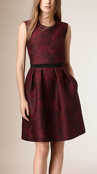 Patterned Silk Blend Shift Dress