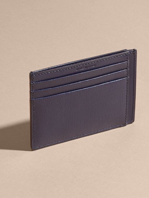 London Leather Card Case in Dark Navy | Burberry - cell image 2